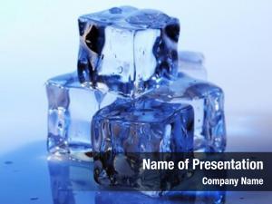 Blue ice cubes