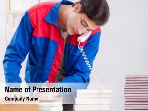 House worker publishing preparing book
