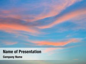 Sky beautiful cloudy during sunset