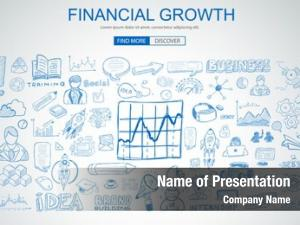 Concept financial growth business doodle