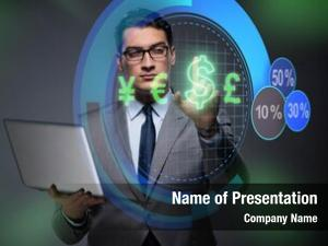Currency businessman online trading concept