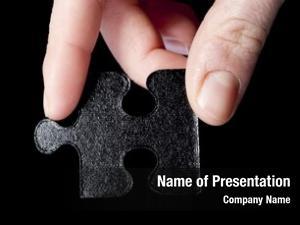 Part missing puzzle hand black,