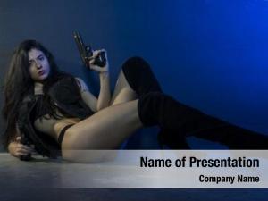 Dangerous danger, beautiful girl gun