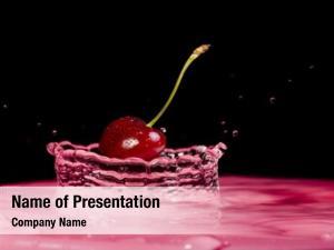 Cherry splash water black