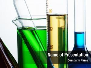 Reagents chemical flasks white