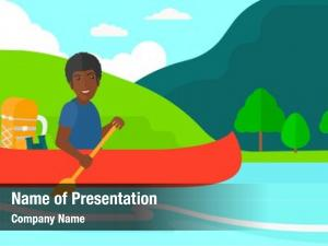 River man canoeing
