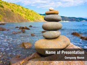 Stones balanced sea