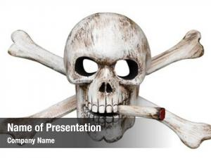 Bones skull cross cigarette clipping
