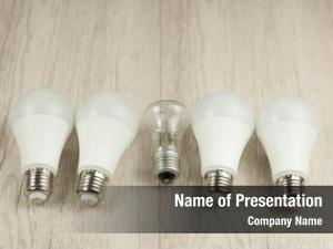 Bulb led light glowing bulb