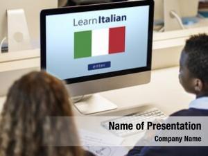 Language learn italian online education