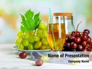 Juice glass grape blue napkin