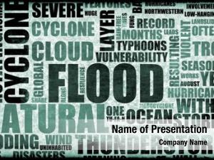 Disaster flood natural art background