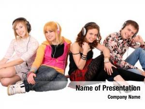 Headphone group people