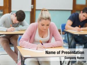 Exam students sitting exam hallin