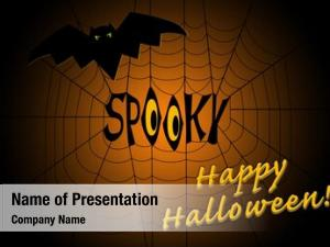 Middle word spooky spider web,