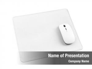 White computer mouse mouse pad