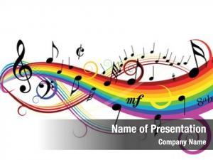 Notes music theme white rainbow