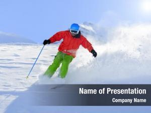 Fresh skiing, freeride powder snow