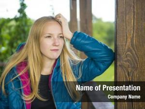 Teenage long haired blonde teenage girl