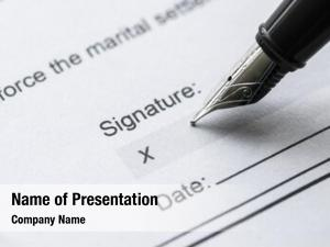 Macro of signing powerpoint template