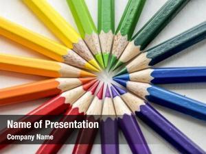 Color closeup colorful pencil