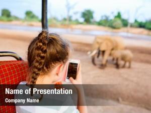 Luxury safari adorable little girl
