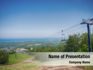 View of summer powerpoint theme