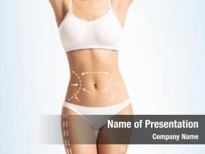 Slimming lingerie white female body