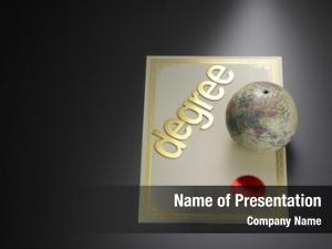 Degree desk globe certificate
