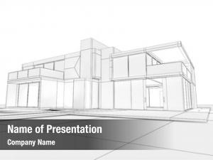 Draft modern house stage
