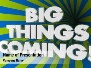 Big things powerpoint template