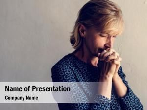 Prayer caucasian woman