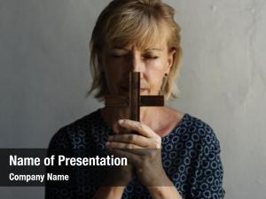 Christianity caucasian woman prayer