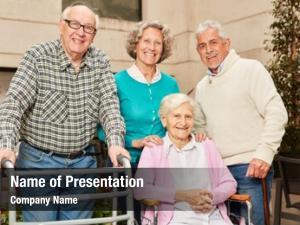 Friends group seniors pensioners retirement
