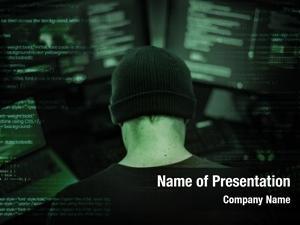 Computer hacker working cyber