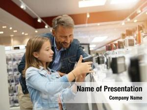 Man with kid powerpoint background