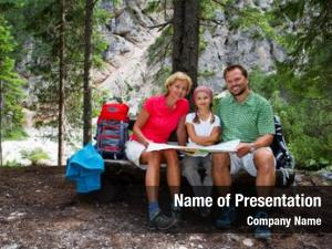 Family family hike, planning mountain