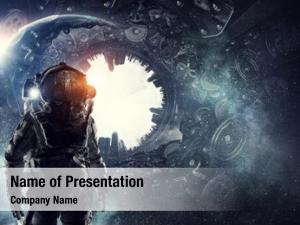 Interstellar astronaut in fantasy world
