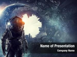 Astronaut in fantasy world