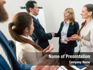 Two middle aged powerpoint theme