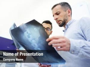 Radiologist explaining