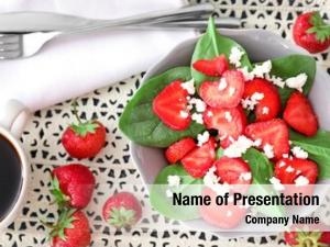 Spinach plate salad strawberry cottage
