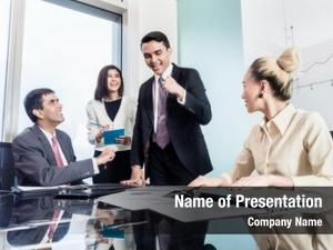Conference room group of asian business