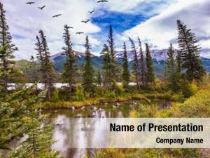 Grandiose landscape powerpoint theme