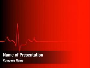 Gradient heart rhythm red black