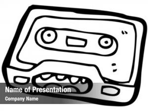 Cartoon (raster version) retro cassette