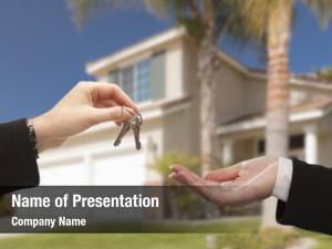 New handing over house keys