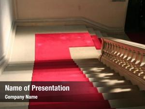 Clasically red carpet designed marble