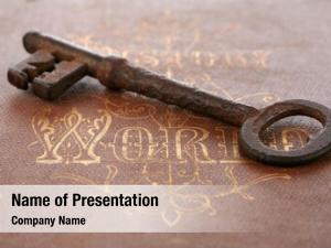 Key antique skeleton antique book