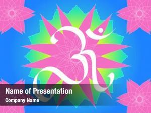 Symbol om  divine hinduism pink